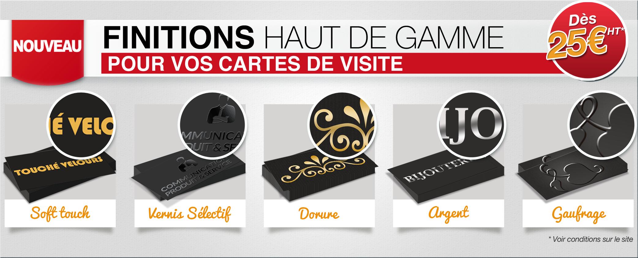 Impression Cartes De Visite Finitions Haut Gamme Nouveau Chez PrintPasCher