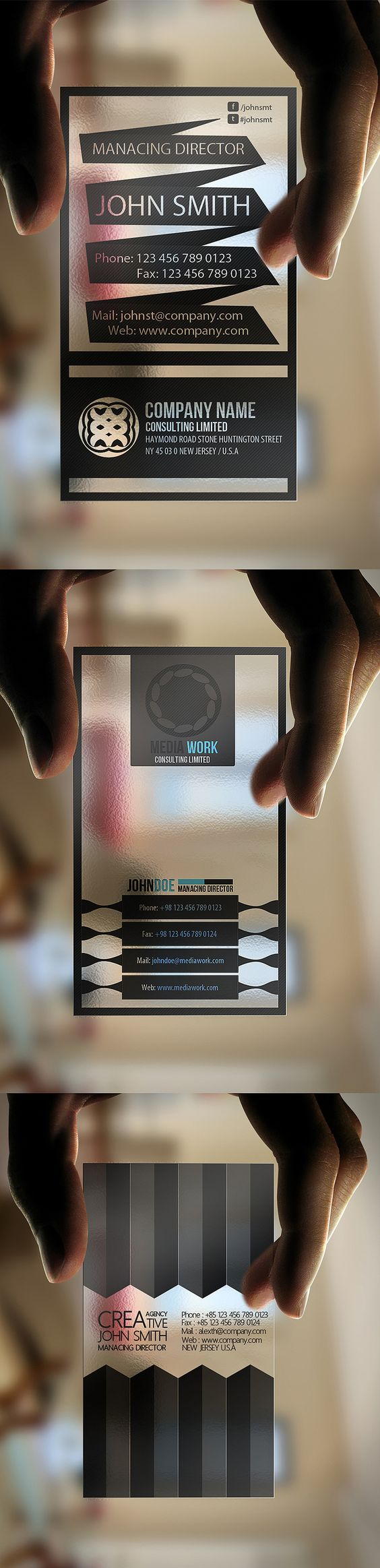 carte de visite translucide en plastique