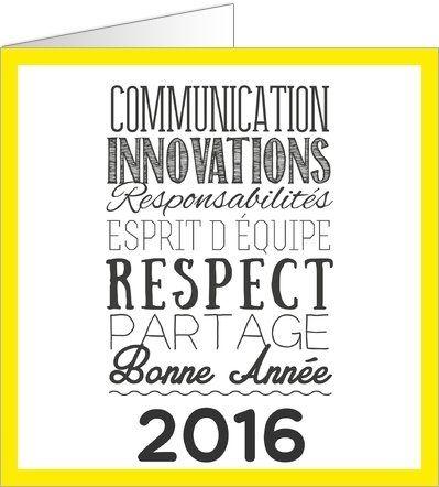 carte de vœux typographie