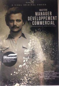 affiche promotionnel mastère manager du développement commercial école vidal