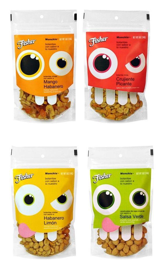 packaging amusant pour une marque de chips