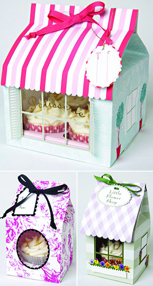 packaging girly pour cupcake