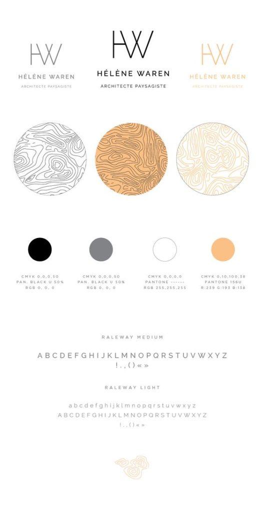 charte graphiques couleurs chaudes