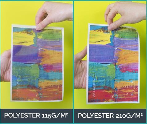 impression sur tissu polyester personnalisé