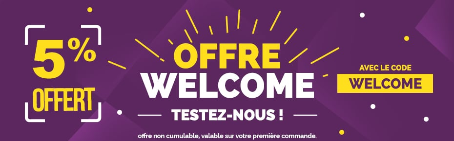 Offre welcome 5%