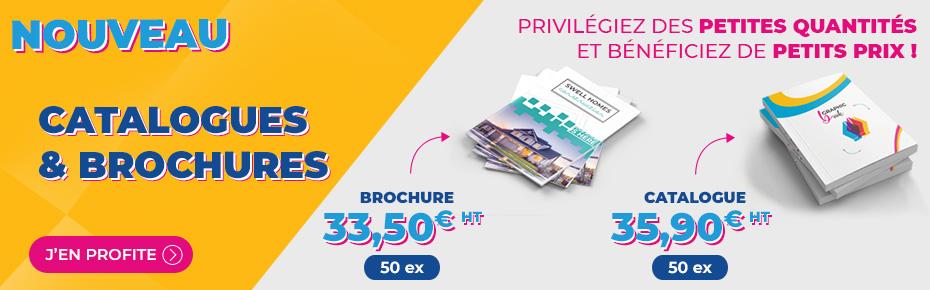 Brochures & catalogues petites quantités