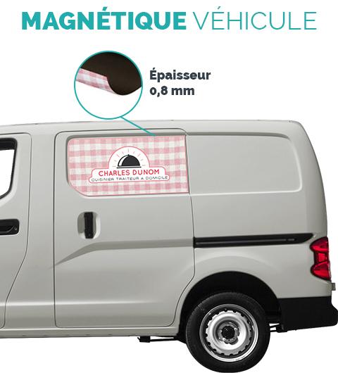 affiche magnétique pour marquage de véhicule