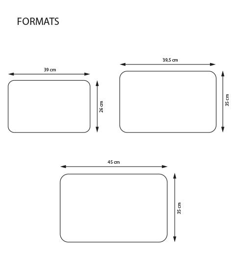 Set de table plastifi personnalis set de table plastique - Set de table grand format ...