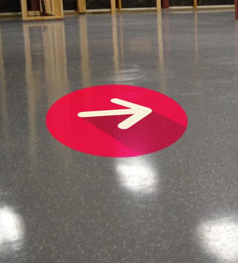 Sticker vinyle sp cial sol autocollant pour sol personnalis - Sol vinyle autocollant ...