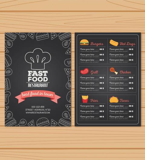 menu restaurant personnalisé