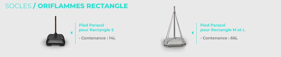 Embase personnalisée pour oriflamme rectangle