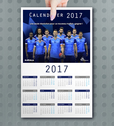 Calendrier souple 2017