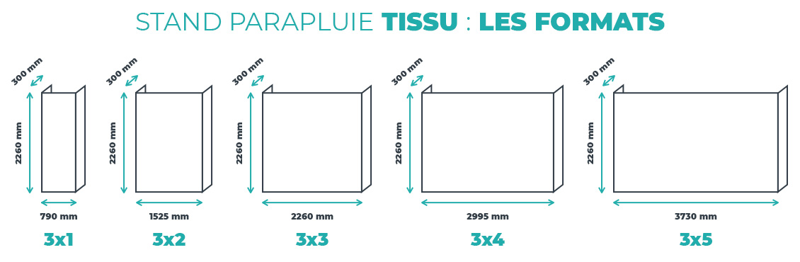 stand parapluie tissu structure