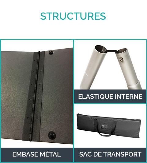 Structure totem tissu
